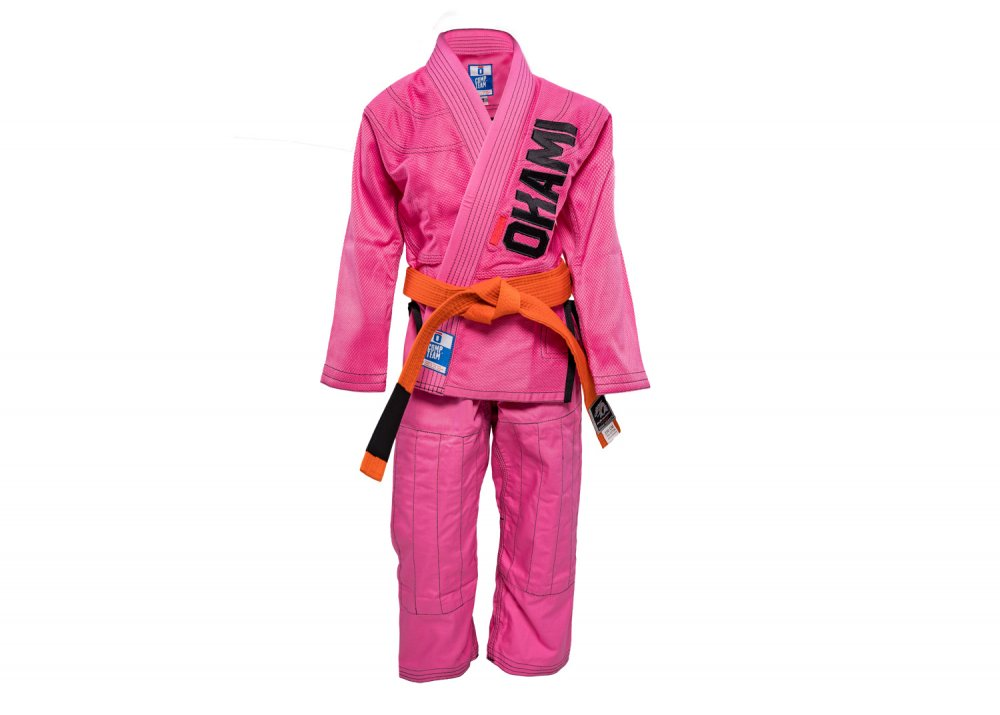 Kids Jiu Jitsu Gi Competition Team Pink