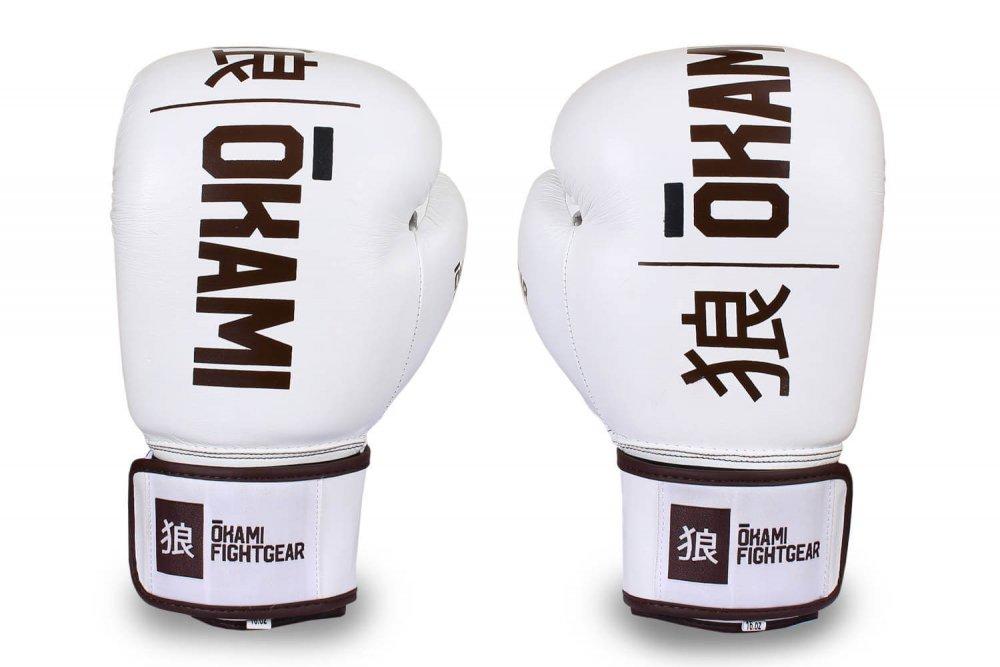 Okami fightgear Hi-Pro Boxing Gloves Blanc