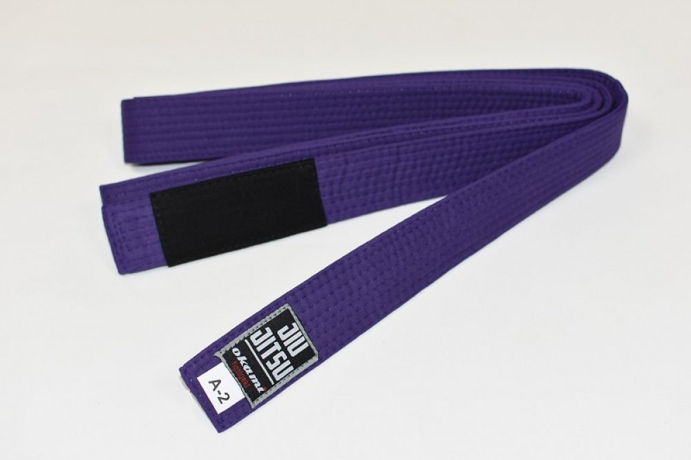 Okami fightgear BJJ Belt - purple