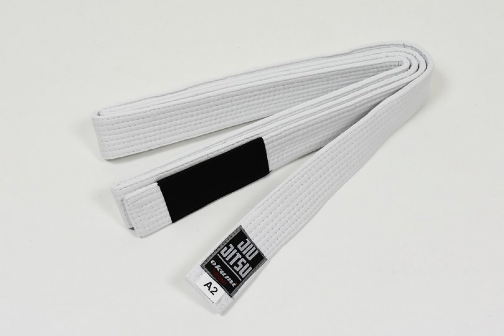 Okami fightgear BJJ Belt - white