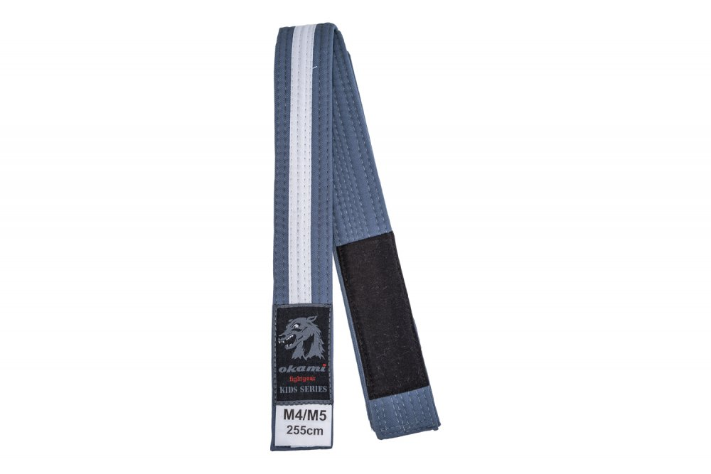 okami Kids BJJ Belt - gray / white