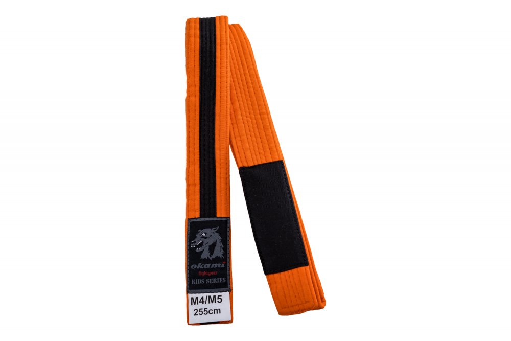 okami Kids BJJ Belt orange / black