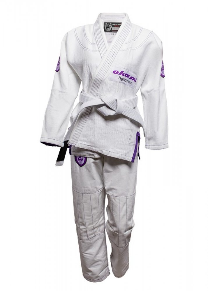 Okami fightgear Women Gi Set Shield + white belt